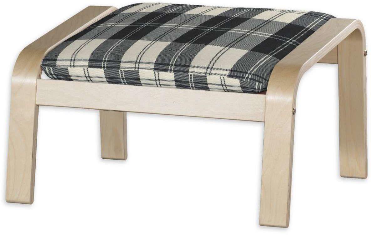 Poduszka na podnóżek Poäng, krata czarno-biała, Podnóżek Poäng, Edinburgh