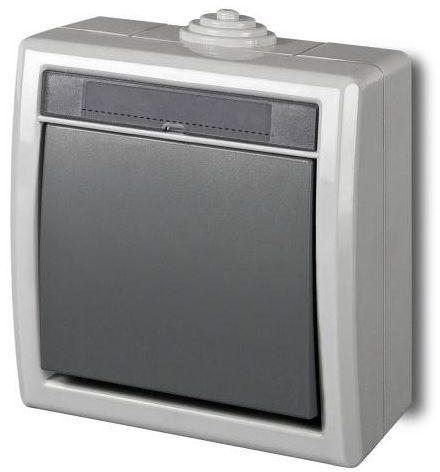 Włącznik pojedynczy AQUANT Szary ELEKTRO-PLAST