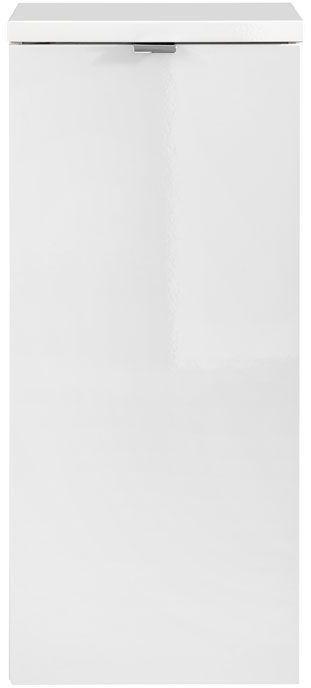 Półsłupek łazienkowy z koszem na pranie - Malta 4X Biały połysk