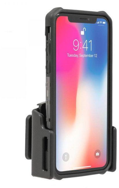 Uchwyt uniwersalny regulowany do telefonu bez futerału oraz w futerale lub etui o wymiarach: 62-77 mm (szer.), 2-10 mm (grubość)