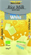 Tabliczka biała bez laktozy bezglutenowa (na napoju ryżowym) BIO 100g Bonvita
