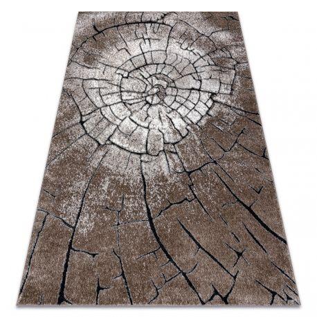 Dywan nowoczesny COZY 8875 Wood, pień - Strukturalny, dwa poziomy runa brązowy 80x150 cm
