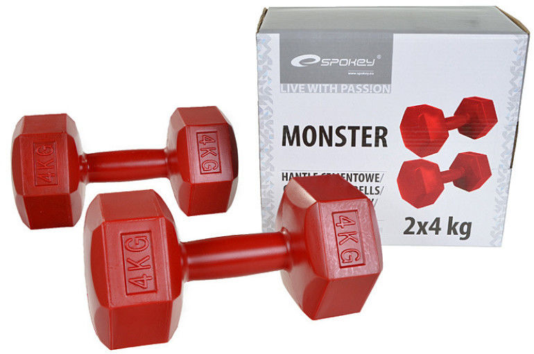 Hantle sześciokątne 2x4kg Monster Spokey