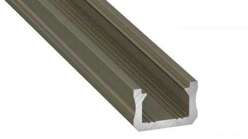 PROFIL typ X 2m INOX anodowany nawierzchniowy wąski SLIM do TAŚMY LED