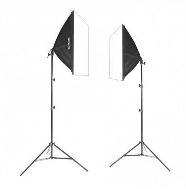 2x lampa SOFTBOX 50x50 65W 802