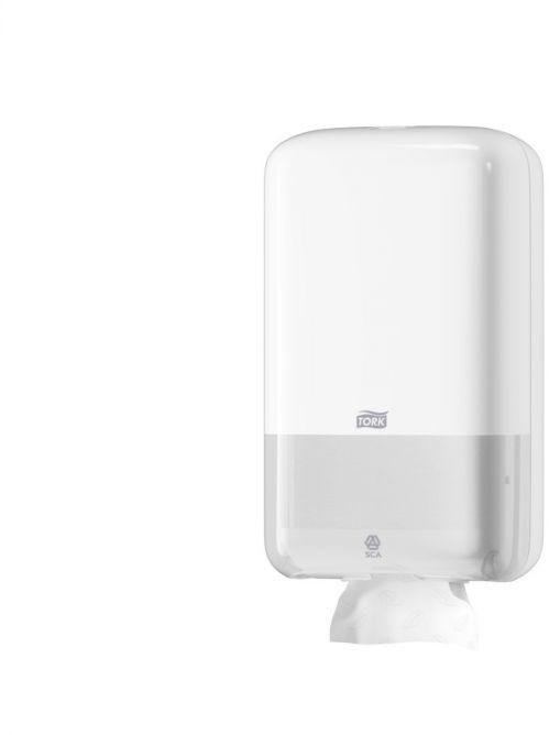 Dozownik Tork do papieru toaletowego w składce biały