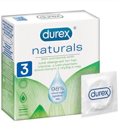Durex Naturals prezerwatywy 3 sztuki