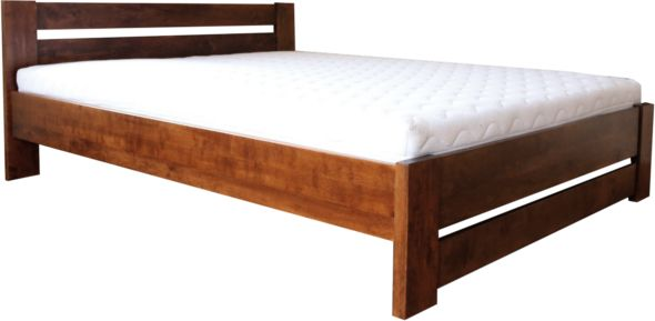 Łóżko LULEA EKODOM drewniane, Rozmiar: 140x200, Kolor wybarwienia: Orzech, Szuflada: Brak Darmowa dostawa, Wiele produktów dostępnych od ręki!
