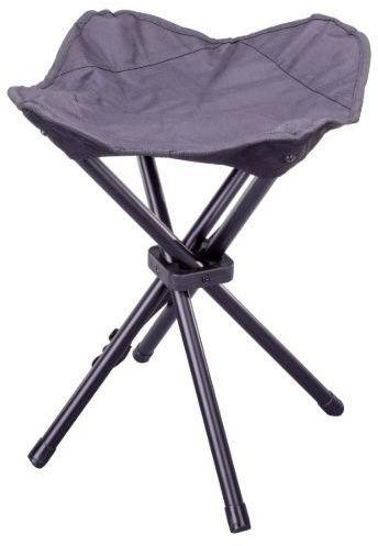 Składany stołek kempingowy - czarny
