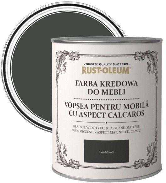 Farba kredowa do mebli Rust-Oleum grafitowy satyna 0,125 l