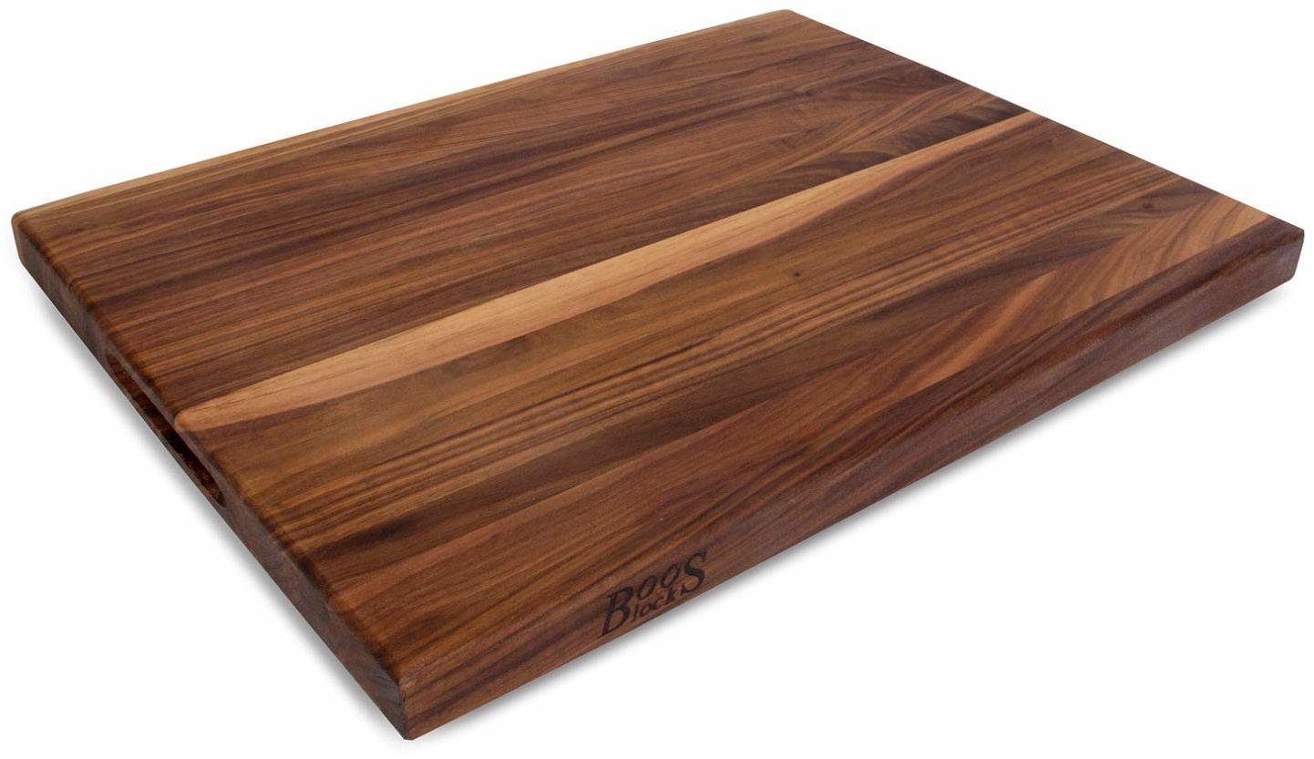 John Boos 61 x 45 x 3,5 cm dwustronna deska do krojenia z czarnego orzecha włoskiego z uchwytami