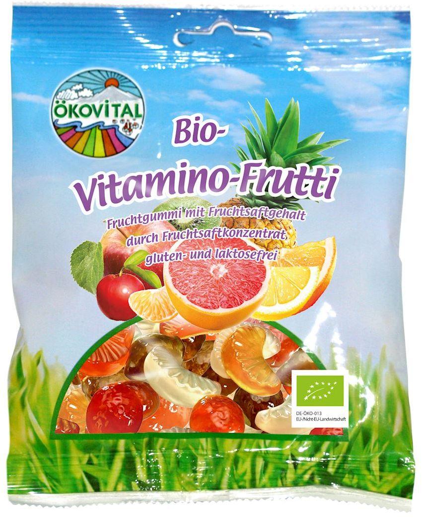 Żelki owocowe z witaminą c bez laktozy bezglutenowe bio 100 g - okovital
