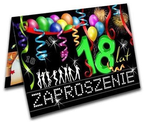 Zaproszenia na 18 urodziny z kopertą 10 sztuk ZX8300-10