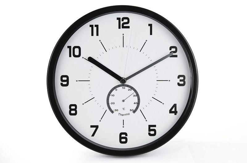 Zegar ścienny MSP30 z termometrem