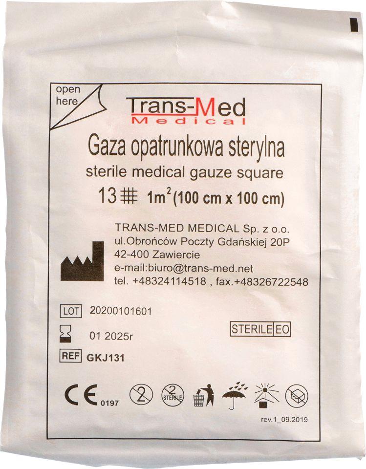 Gaza opatrunkowa sterylna 13N 1m2