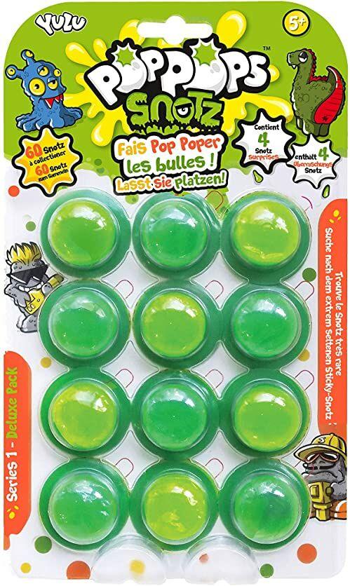 Bandai  Poppops  deluxe opakowanie z 12 figurkami Poppops  12 zielonych foremek do rozłupywania i 4 figurki niespodzianek do kolekcjonowania  majsterkowanie  masa do ugniatania  YL07113