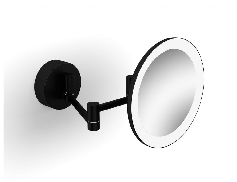 Stella lusterko kosmetyczne powiększające x3 podświetlane LED ruchome ramię czarne 22.00230-B wysyłka 24h