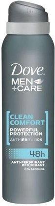 Dove Men+Care Clean Comfort dezodorant - antyperspirant w aerozolu 48 godz. 150 ml + do każdego zamówienia upominek.