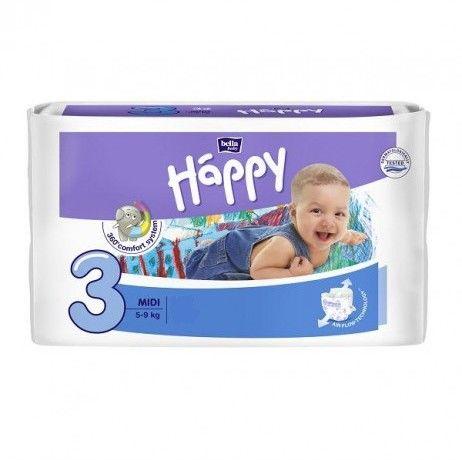 Bella Baby Happy Pieluszki Midi 3 (5-9kg) 52szt