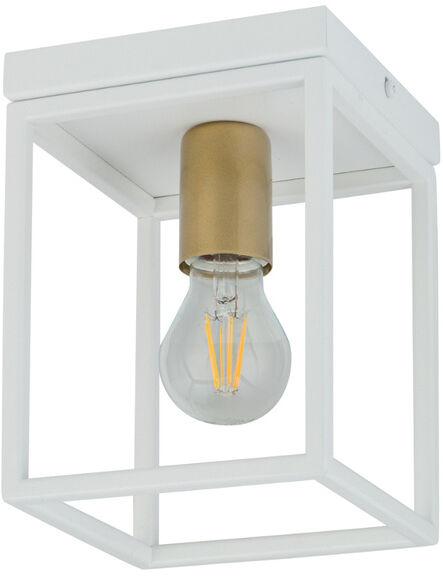 Nowoczesna lampa sufitowa VIGO E27 60W wys. 21cm biały złoty