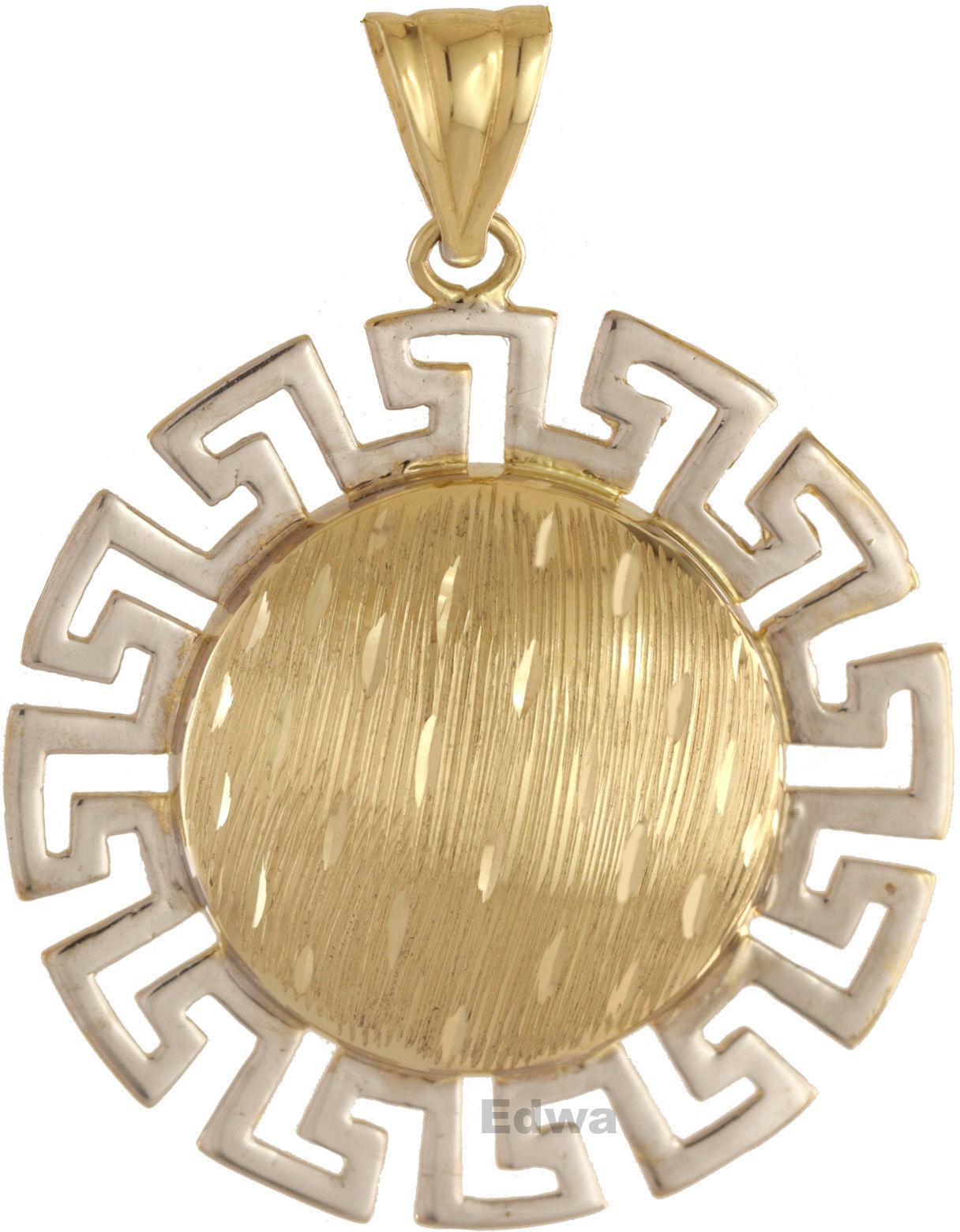 Zawieszka złota Słońce z greckim motywem pr.585