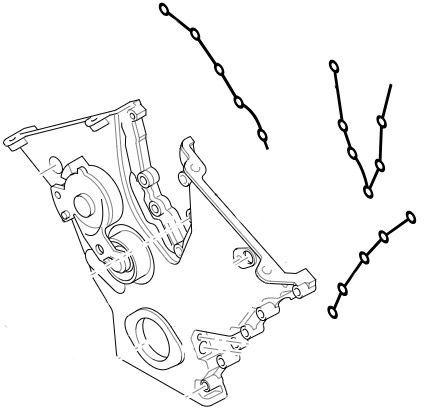 uszczelki pokrywy rozrządu Ford Mondeo V6 - (3 szt.) - oryginał