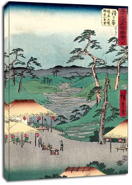 Hodogaya distant view of kamakura mountains from the boundary tree posthouse, hiroshige - obraz na płótnie wymiar do wyboru: 50x70 cm