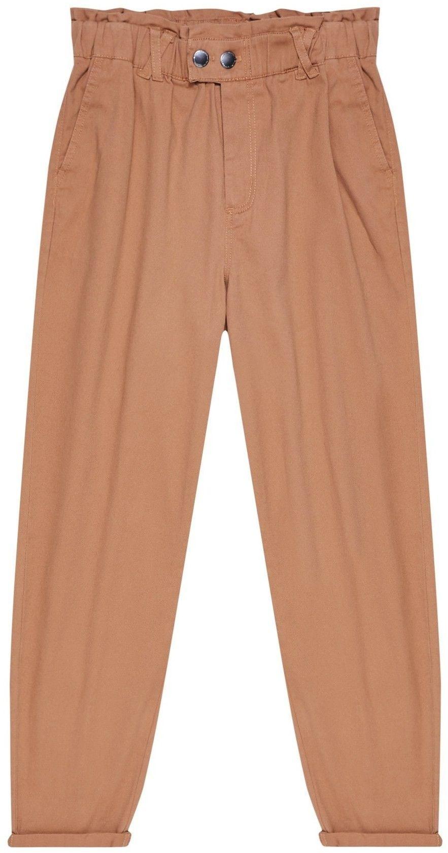 Gładkie spodnie typu paperbag