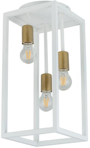 Nowoczesna lampa sufitowa VIGO 3x E27 60W wys. 47cm biały złoty