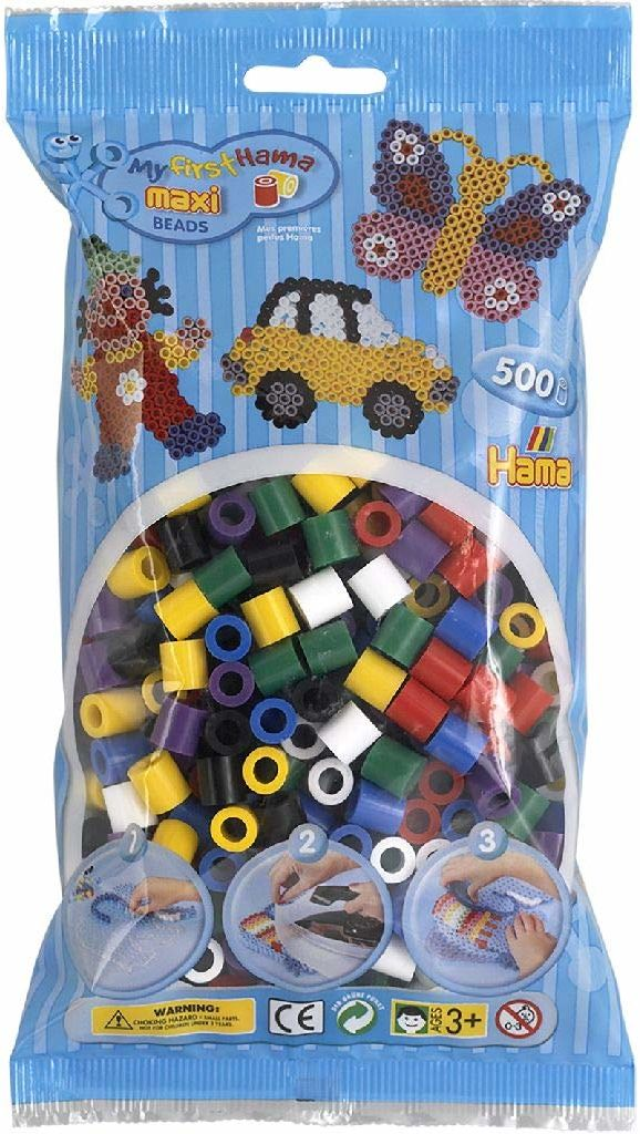 Hama 8470  koraliki do prasowania Maxi, ok. 500 sztuk w różnych kolorach