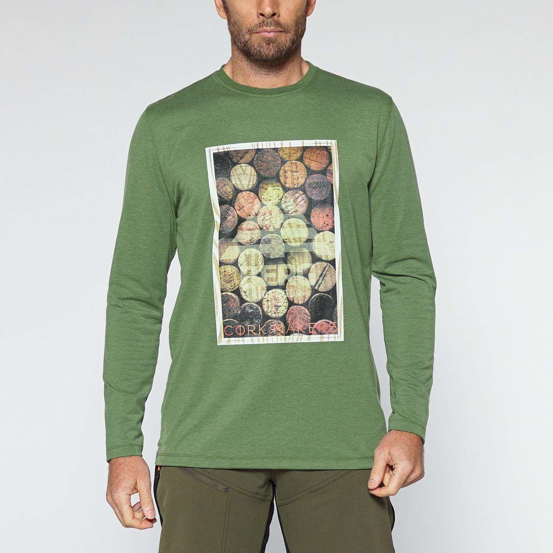 Berg Outdoor męska koszulka Coroto Tech koszulka z długim rękawem Tech koszulka z długim rękawem ZIELONY S