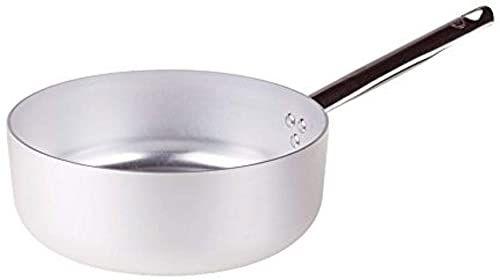 Pentole Agnelli Linia aluminiowa 3 mm garnek do duszenia z 1 uchwytem 18 cm srebrny/czarny