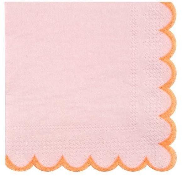 Meri Meri - Małe serwetki Pastelowe różowe