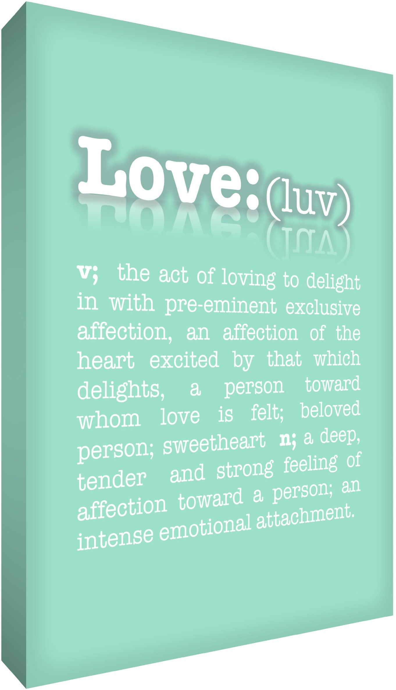 Feel Good Art 61 x 80 cm A1 bardzo duży nowoczesny słownik typograficzny opis miłego grubego pudełka płótno, miętowa zieleń