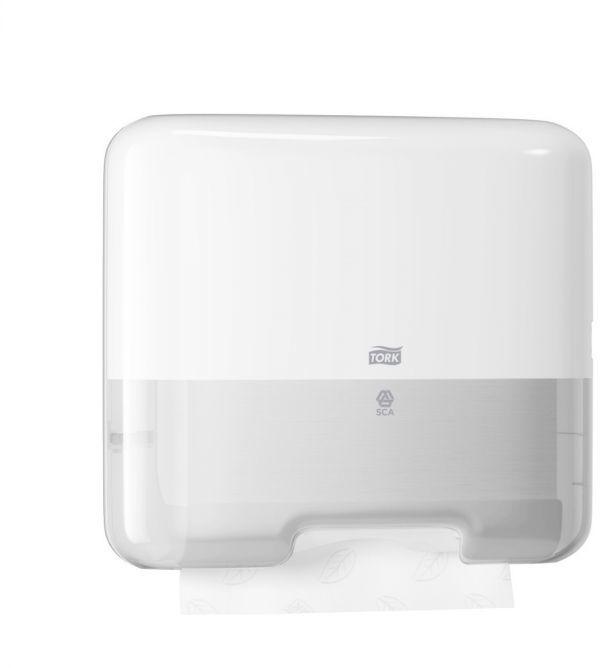 Dozownik Tork mini do ręczników papierowych w składce ZZ biały