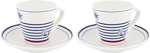 Générique 3002 kubki Duo, ceramiczne, niebieski/biały/czerwony, 19 x 13,5 x 6,5 cm