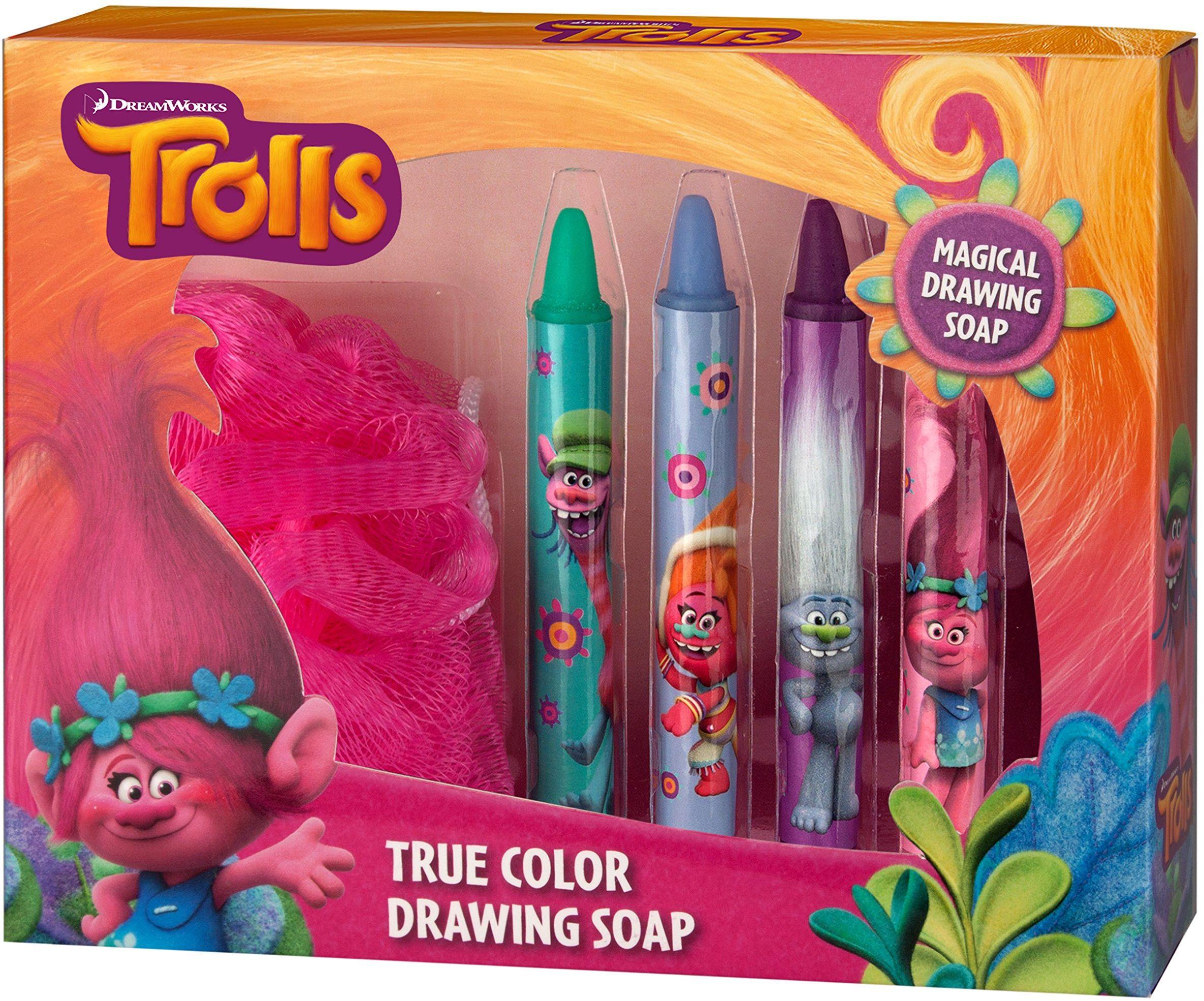 """Trolls Drawing Soaps  pisaki do mydła dla dzieci w kolorowej zabawie w kąpieli  firmy""""TROLLS"""""""