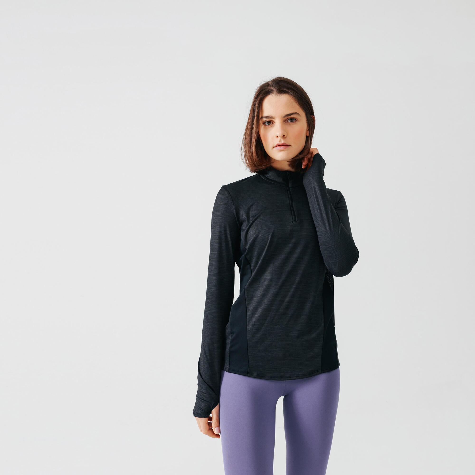 Koszulka damska do biegania z długim rękawem Kalenji RUN DRY+