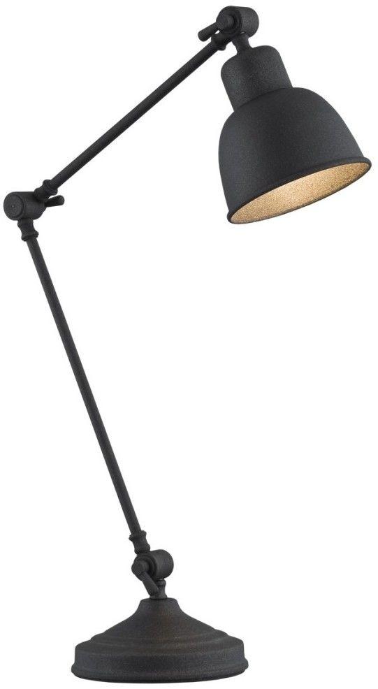 Lampa biurkowa 1X60W E27 Czarna 3197 EUFRAT ARGON