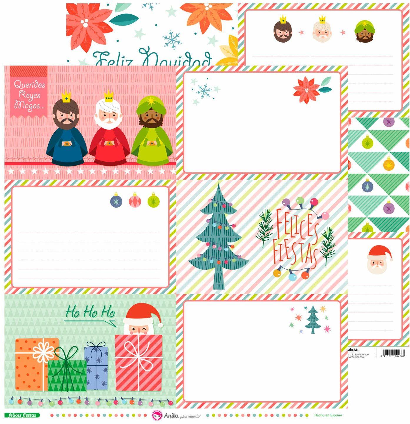 Anita & Seine Welt duże kartki, Wesołych Świąt Bożego Narodzenia, 30,5 x 30,5 cm, 5