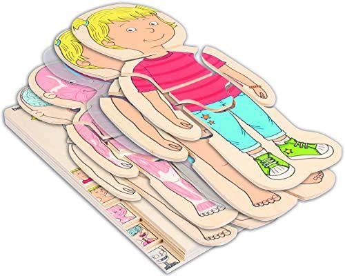 Beleduc 17160 - puzzle warstwowe Twojego ciała dziewczynki, dodatkowa folia z motywem krążenia krwi, sprawdzone w przedszkolu
