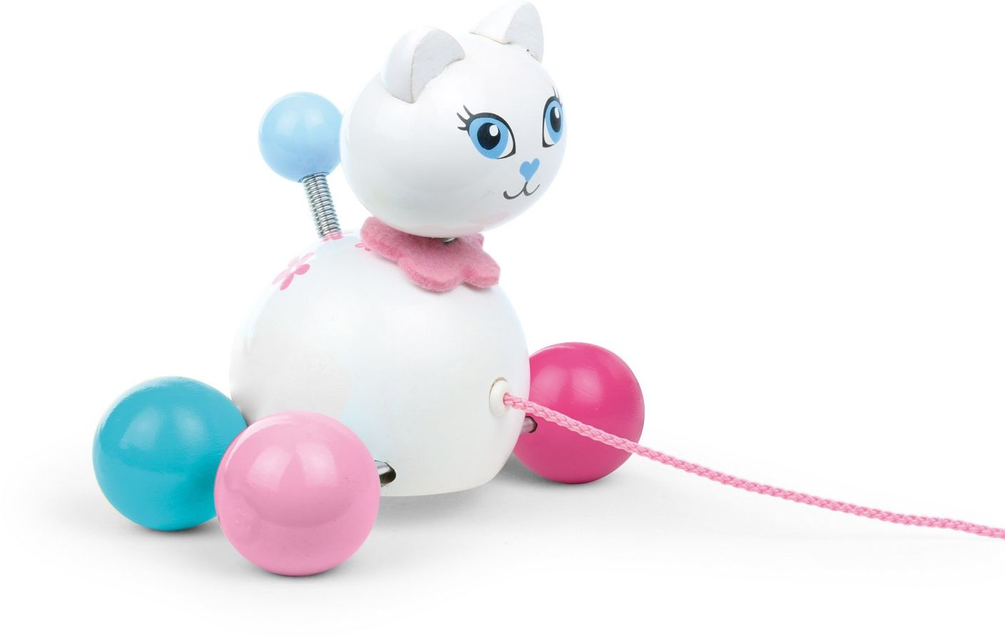 Vilac 12,5 x 7 x 13 cm Cathy The Cat Pull Along Toy