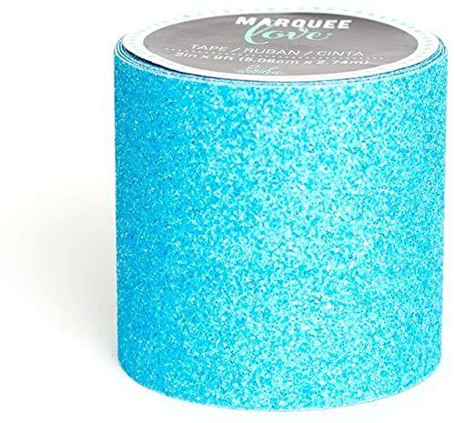 American Crafts Lt Blue Marquee Washi taśma 5 cm, akryl, wielokolorowa, 5,08 x 5,08 x 5,08 cm