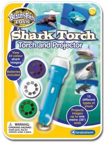 Latarka - projektor rekiny