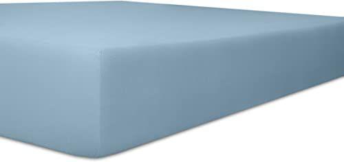 Kneer 6073663 Single Jersey prześcieradło dziecięce z gumką jakość 60, 35 x 78 cm - 40 x 90 cm, jasnoniebieskie
