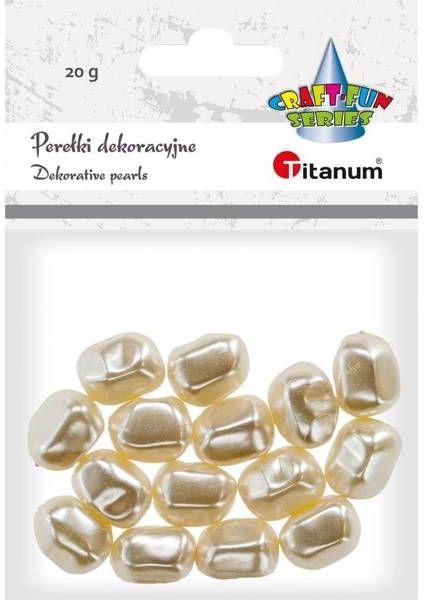 Koraliki plastikowe twist białe perłowe 20g - Titanum