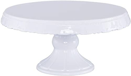 RBV Birkmann, 441422, patera na tort Vintage, rozmiar L, Ø 30 cm, ceramika, biała