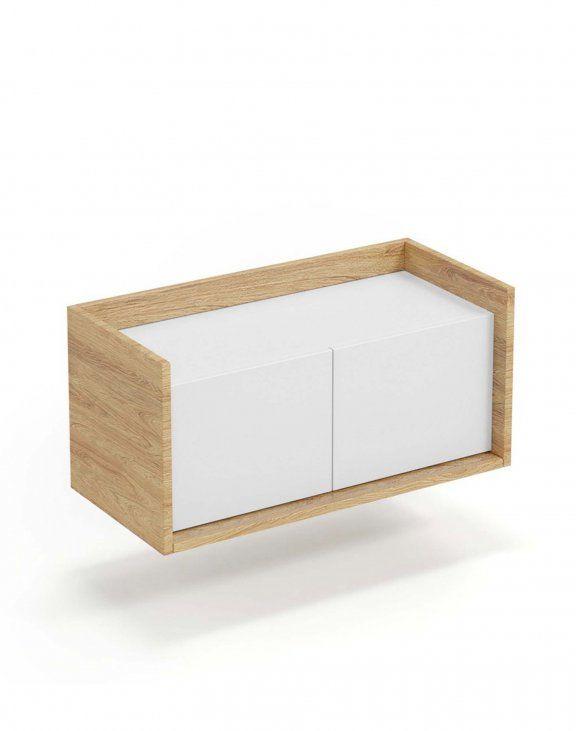 Mobius szafka niska 2D (78x41x36 cm), biały, meble modułowe
