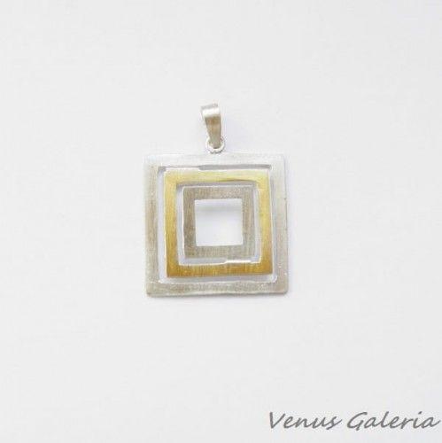 Zawieszka srebrna- Quadratum małe
