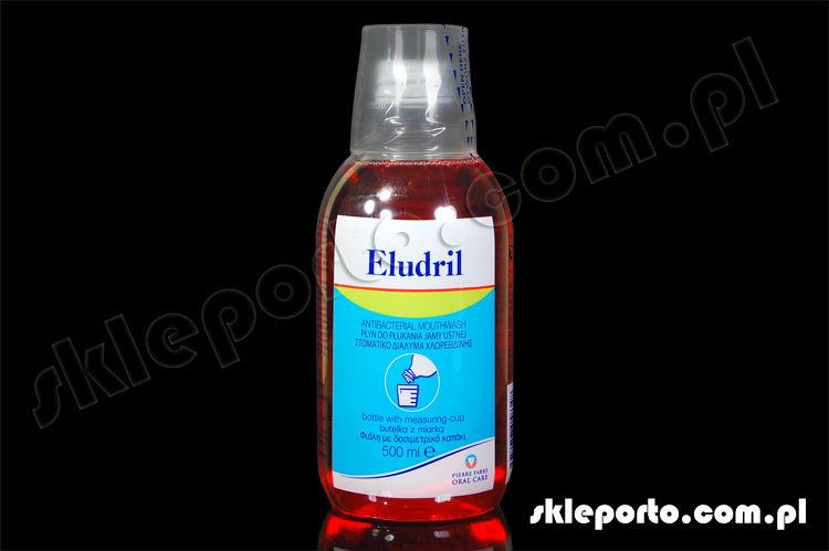 Eludril Classic 500 ml płyn antybakteryjny z chlorheksydyną - higiena ortodontyczna